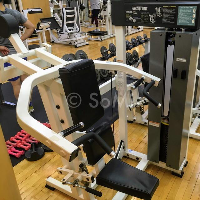 Shoulder press machine in the gym of Hotel Riviera Cheongdam