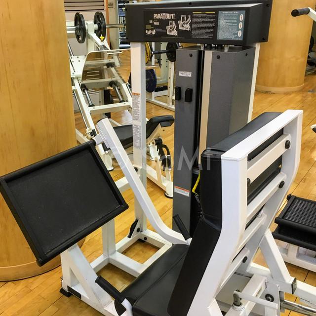 Leg press machine in the gym of Hotel Riviera Cheongdam