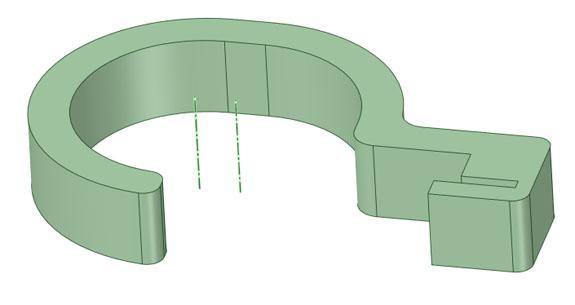 フックの形状の図