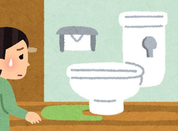 トイレの鍵が開かないイラスト
