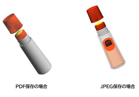 JPEG形式とPDF形式比較