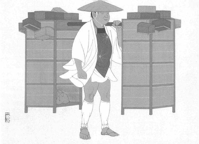 江戸の珍妙な物売り - 孤立特異...