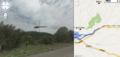 [ストリートビュー][Street View]ストリートビュー・北海道上川郡上川町天幕近くにて飛行する赤トンボ