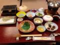 朝食@草津の旅館