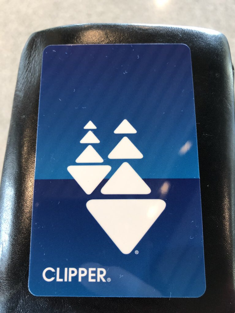 Clipper Card実物の写真 plain