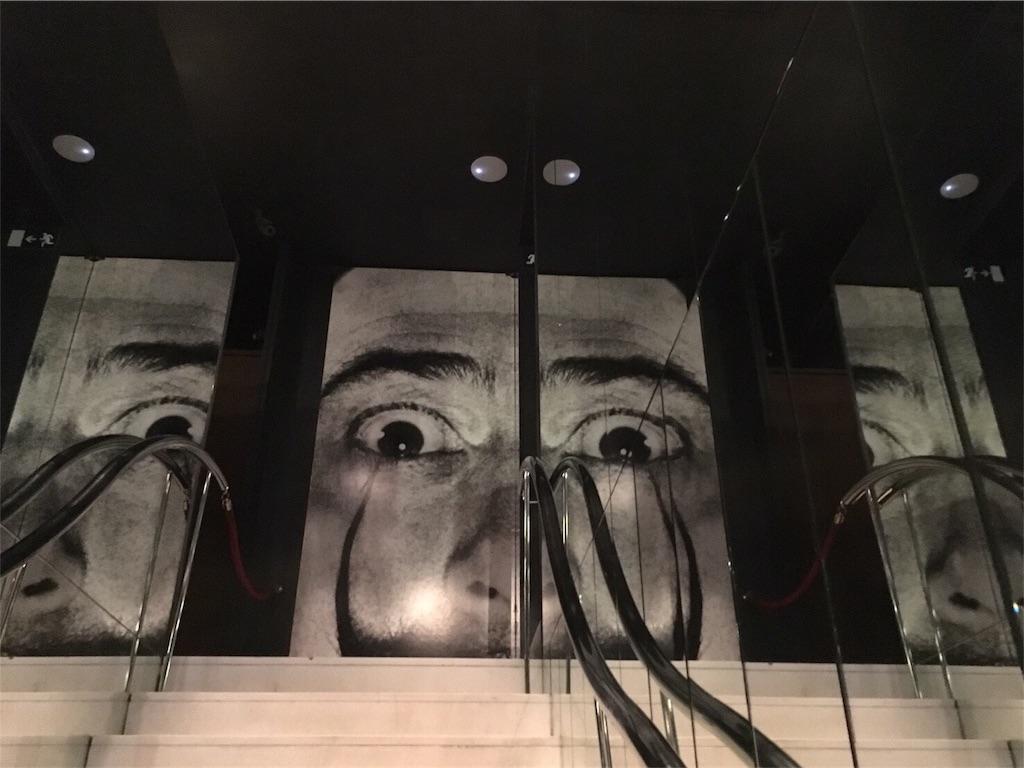 フィゲラスのダリ美術館 鏡にうつるダリ