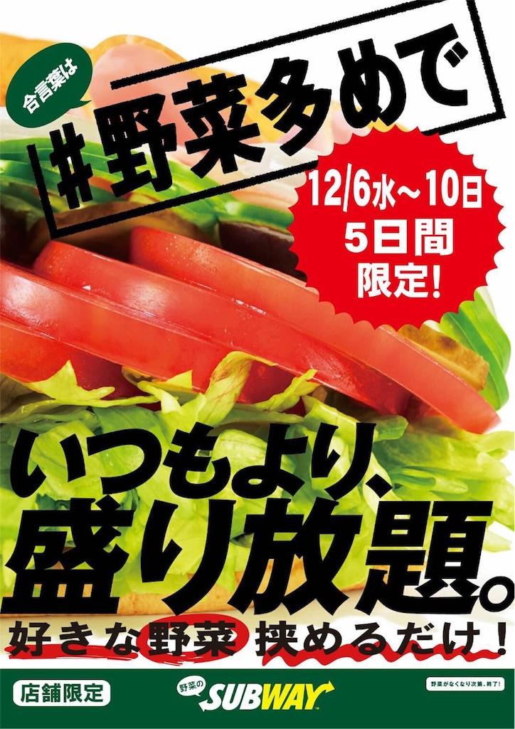 サブウェイ野菜盛り放題