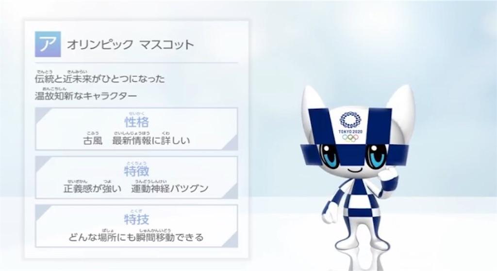 東京オリンピックのマスコット