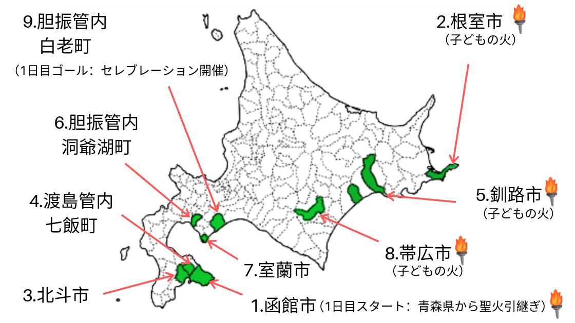 【東京2020オリンピック】北海道の聖火リレー1日目