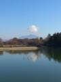 筑波山のうえに雲