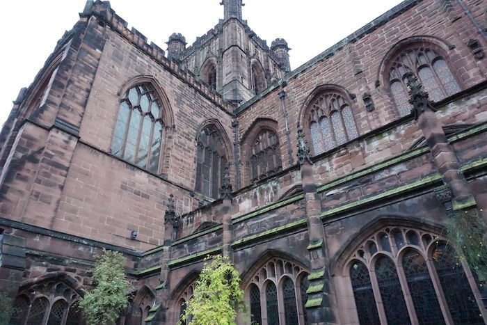 Next to Chester Cathedral
