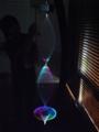 光ファイバーの束が作る光