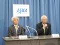 JAXA新理事長の奥村直樹氏と前理事長の立川敬二氏