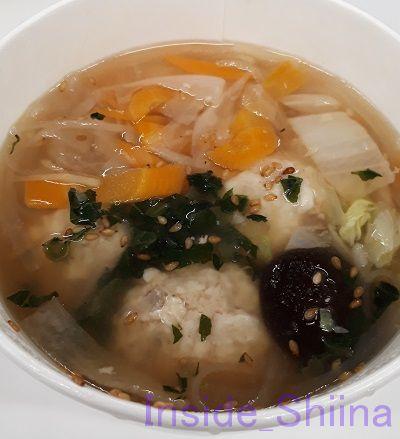 鶏と蓮根のつくね入り和風スープ