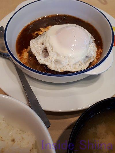 ブラウンソースエッグハンバーグ定食