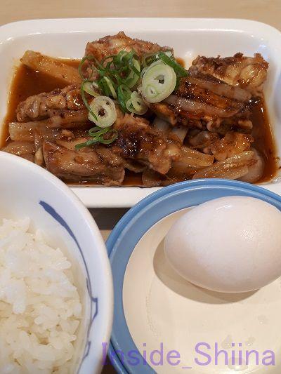鶏のバター醤油炒め定食ライス小