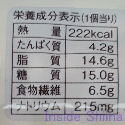 ブランのブルーベリーデニッシュ栄養成分