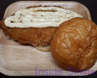 白身フライ×タルタルソース×クレイジーソルト×パン
