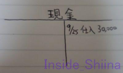 日商簿記3級Tフォーム現金仕訳