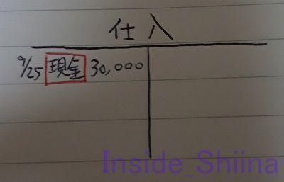 日商簿記3級Tフォーム仕入赤丸