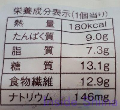 ブランのホイップアンパン栄養成分