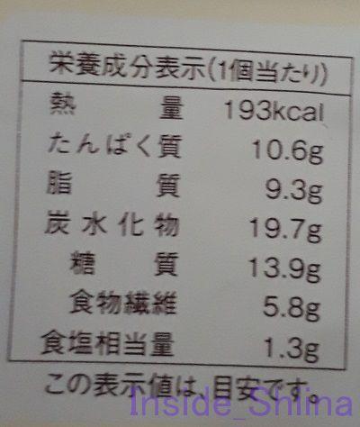 3種のきのこグラタン風トースト栄養成分