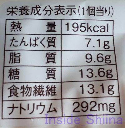 ブランのミルクフレーキー栄養成分表示