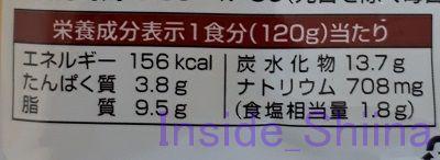 新宿中村屋プチハヤシ(ビーフ)栄養成分表示