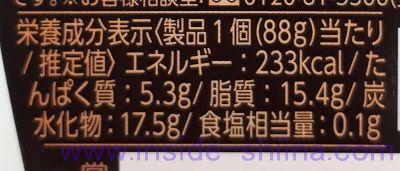 極み濃厚神戸プリン栄養成分表示