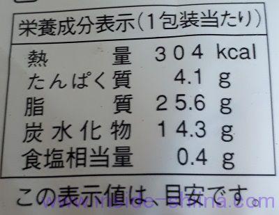 レアチーズパイシュー栄養成分表示