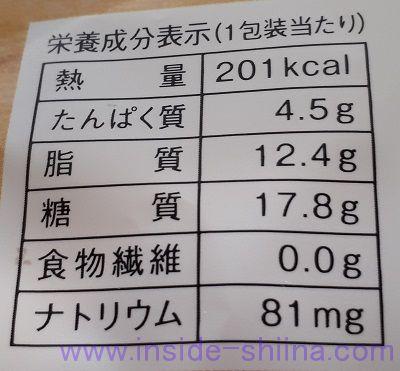 濃厚たまごのカスタードシュークリーム栄養成分表示