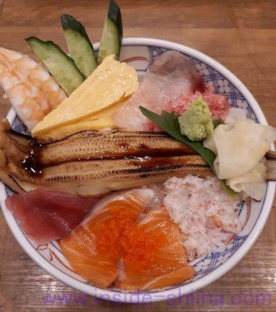 磯丸水産、海鮮こぼれ丼(税込1,280円)