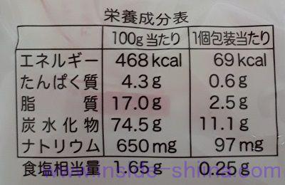 ソフトサラダ栄養成分表示