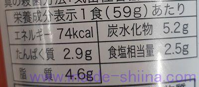 とん汁栄養成分表示