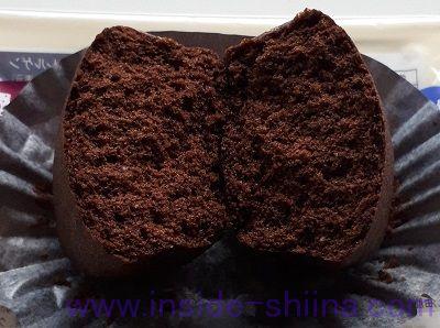 ブランのスイートチョコ蒸しケーキ~ベルギーチョコ使用~2個入中身