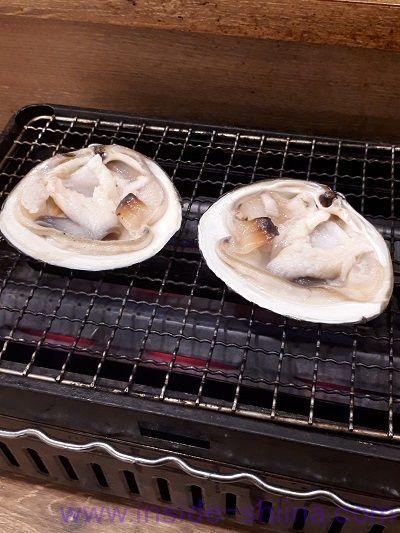 磯丸水産、ホッキ貝の殻焼