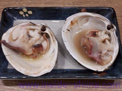 磯丸水産、ホッキ貝の殻焼焼いた後