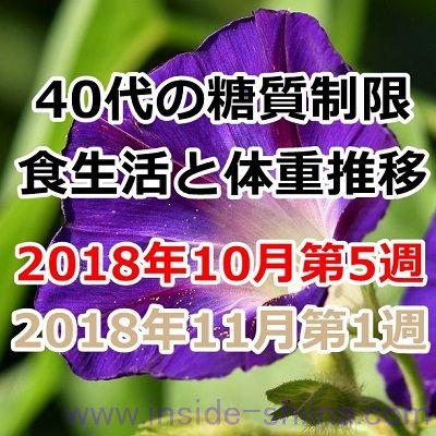 40代の糖質制限2018年10月第5週と11月第1週