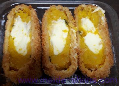 北海道産とろ~りチーズのかぼちゃ包み揚げ見た目