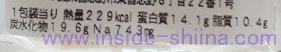 ローストビーフサンド(山わさびソース)栄養成分表示