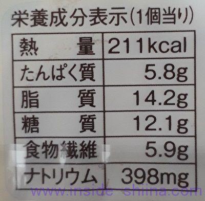 ブランの明太チーズポテトデニッシュ栄養成分表示