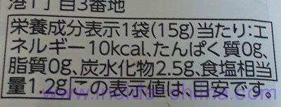 塩ぽん酢栄養成分表示