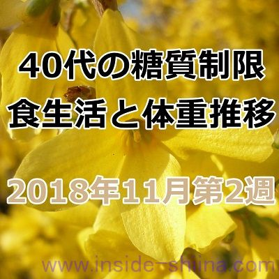 40代の糖質制限2018年11月第2週