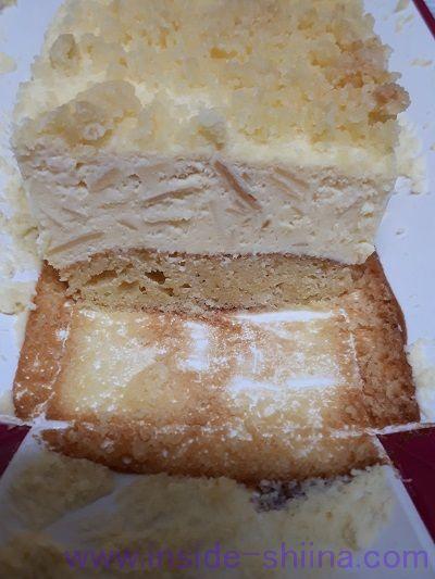 成城石井糖類offプレミアムチーズケーキ断面