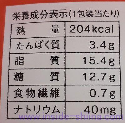 プレミアムロールケーキ(いちごのせ)栄養成分表示
