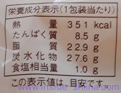 チーズ好きのためのチーズケーキ栄養成分表示