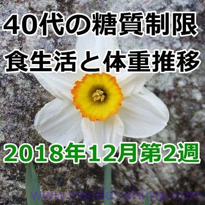 40代の糖質制限2018年12月第2週
