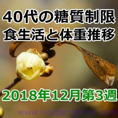 40代の糖質制限2018年12月第3週