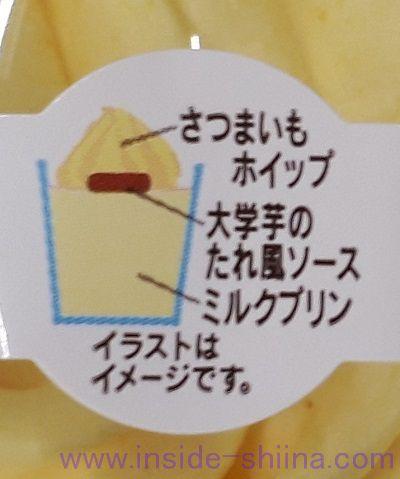 おさつホイップのミルクプリン構成