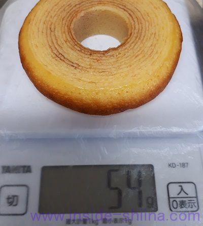 ローソン 発酵バターを使ったふんわりバウムクーヘン重量